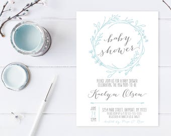 Baby Shower Invitation, Baby Shower, Baby Shower Invitations for Boys, Boy Baby Shower Invite, Boho, Boho Invites, Boho Baby Shower [612]