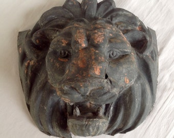 Zinc Lion Face
