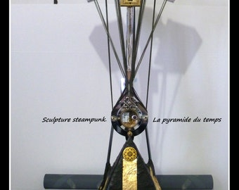 Sculpture steampunk. The Time Pyramid