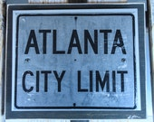 Atlanta City Limit Handmade Wall Art