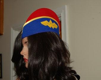 Pinup Military Hat ,wonder woman hat ,Garrison Hat,side cap.