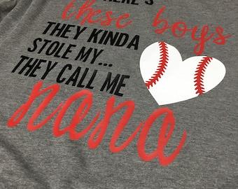 Nana baseball shirt - baseball shirt for Grandmas