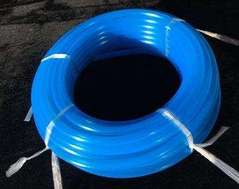 100' 3/4 UV Blue Agate Polypro Coil - 10ft, 50ft, 100ft Coil -Black Light Reactive- Hula Hoop Supplies