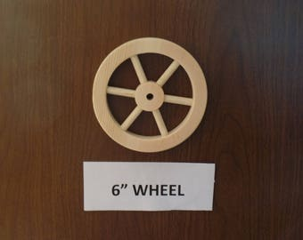 """Unfinished 6"""" wheel with (6) spokrs Part No. 1401-J"""