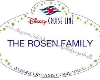 LARGE Disney Cruise Line personalised door magnet