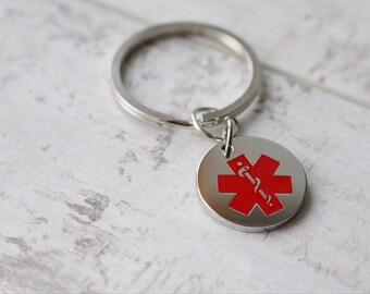 CHOICE  of PERSONALIZED Medical ID Keyring - Medical Alert Keyring