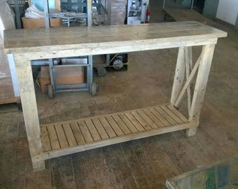 Rustic Console/Sofa Table (Reclaimed Wood)