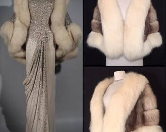 Ultimate Luxury / Old Hollywood / Norwegian Fox Fur Stole / Opera / Red Carpet / Bridal / Wedding / Lavish Fur / 1940s / 1950s / 1960s