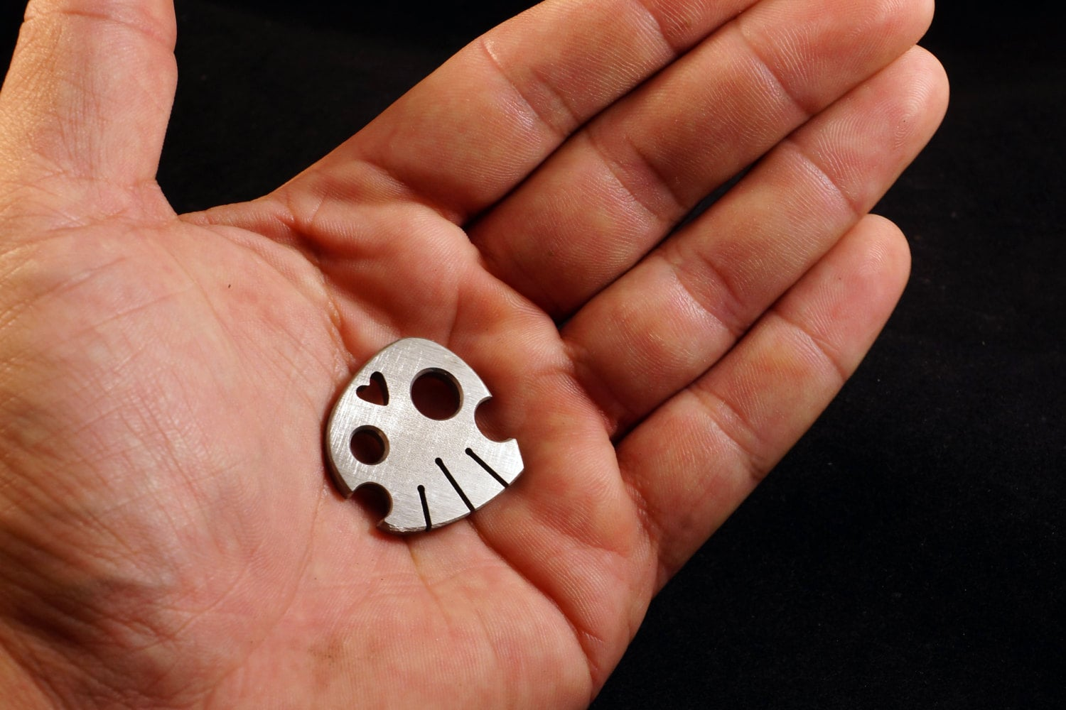 Small Titanium Coin, 'Carry the Skull'