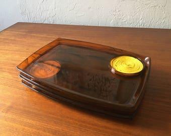 Vintage 1960s lucite lap trays: set of 4