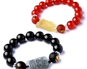 50% SALE- Tiger Mascot Buddha Couple Bracelet-WEN542709446444-GVN