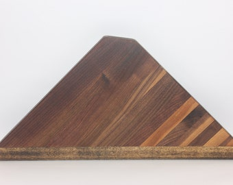 Walnut & Pine Triangle Cutting Board