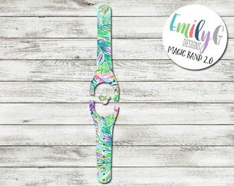 Magic Band Decal   Island Time Lilly Pulitzer Inspired Magic Band Decal 1.0 or 2.0   Disney MagicBand 2 Decal   RTS Ready To Ship