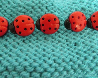 15mm Ladybird Shaped Buttons