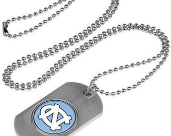 North Carolina Tar Heels Stainless Steel Dog Tag Necklace