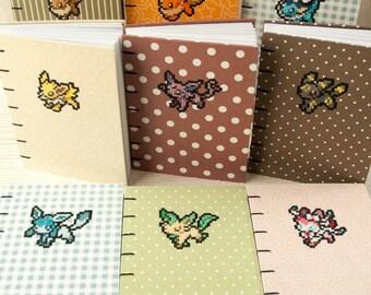 Handmade Eevee Evolution Pokemon Journals
