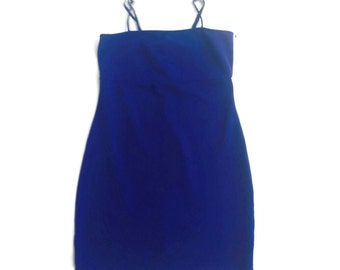 Vintage 90's Royal Blue Mini Dress