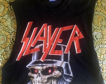 Vintage cropped slayer muscle tank