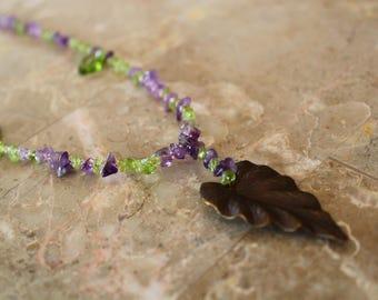 Beautiful Amathyst and Peridot Necklace
