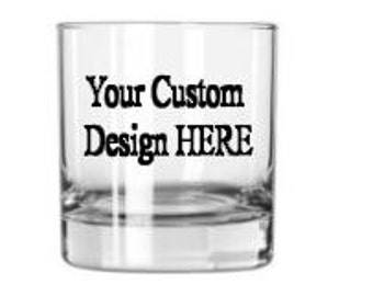 Custom Etched Whiskey Glass - Personalized Whiskey Glass - Personalized Gift - Groomsmen Gift - Personal Rocks Glass - Bourbon Glass