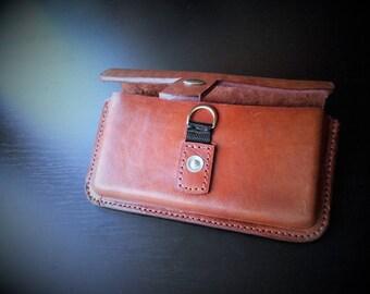 Handmade Leather Horizontal Holster Case iPhone 6, 6S,6plus, 6s Plus 7, 7 plus
