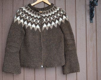 Iceland sweater,Iceland pullover,Icelandic sweater,Lopapeysa,outwear,birthday gift,Ready to ship,size S,100%Icelandic pure yarn,full zip