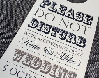 Personalised Wedding 'Do Not Disturb' Door Hanger