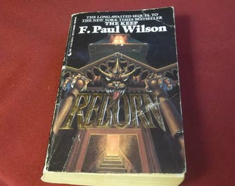 F. Paul Wilson  REBORN  Horror Paperback Book Gothic  1990 Author of the Nazi Horror Book THE KEEP