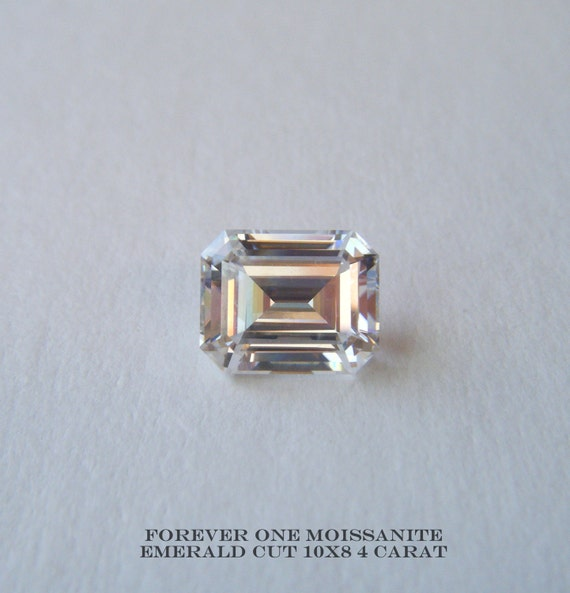 Forever One Emerald Cut Moissanite Loose Gemstones - Imagez co