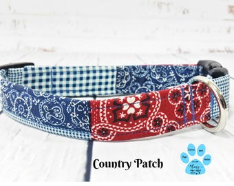 Plaid Dog Collar, Country Dog Collars, Farm Style Dog Collar, Cute Boy Dog Collar, Farm Girl Dog Collar, Farm Boy Dog Collar, Pet Collar