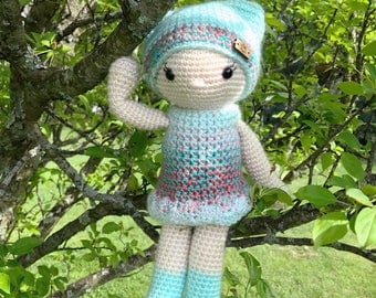 "Heirloom Doll ""Cora"", Crochet Doll with Accessories, Girls Amigurumi Doll, Gifts for Girls"
