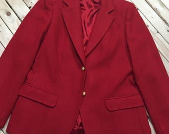 Villager Red Wool Blazer