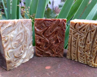 Bulk Rate 3 Pack Full Size Soaps: Woman's Immune Boost, BF & C and Rest and Relax Soaps