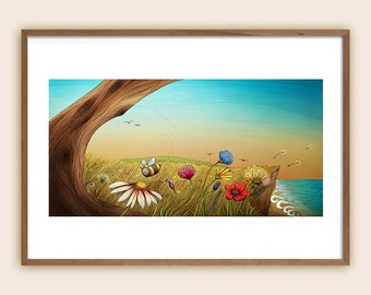 "Art Print: ""The Earth Laughs in Flowers"""