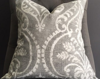 Pillow Cover, Grey Ikat Pillow Cover, ELSA