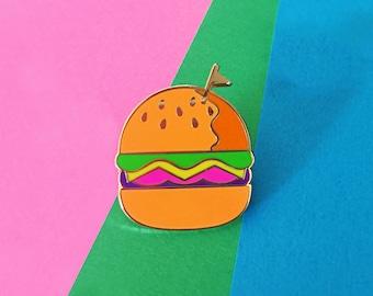 Cheeseburger Lapel Pin
