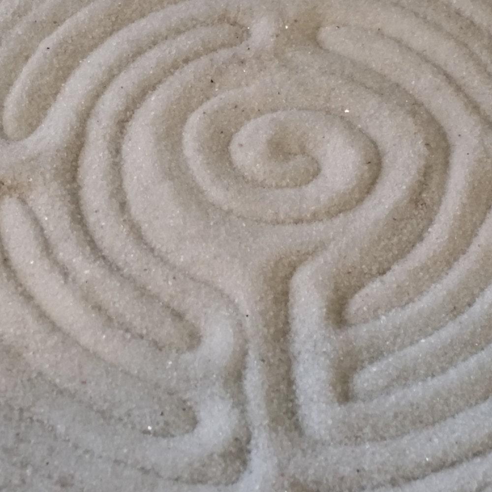 Chartres Labyrinth, Sand Labyrinth, Zen Labyrinth, finger labyrinth, 8.5 inch Cherry wood, handmade