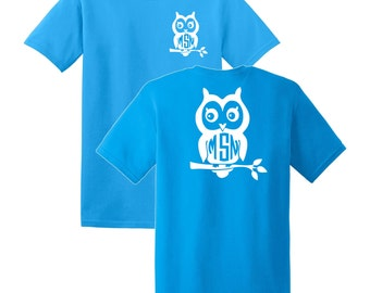 Owl Monogrammed T-shirt