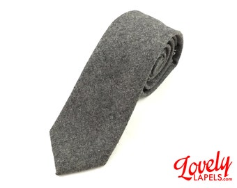 NKT2001 - Slim Wool Neck Tie, Gray - Well Knotted, Lovely Lapels