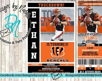 Cincinnati Bengals Football Invitation