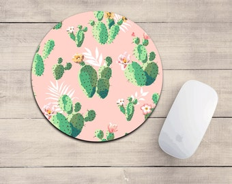 Cactus mouse pad/cactus/mousepad/desk accessory/cute mousepad/succulent decor
