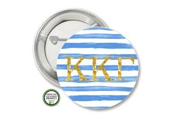 Kappa Kappa Gamma Pin Back Button, Pin Back, Greek Button, Sorority gift, Big Little Gift, Kappa Kappa Gamma Gift, KKG