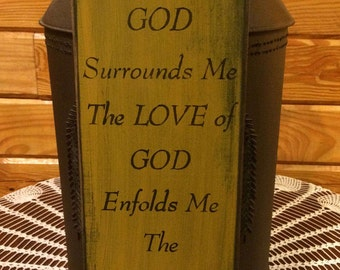 The Light Of God Surrounds Me The Love of God Enfolds Me The Power of God Protects Me Sign