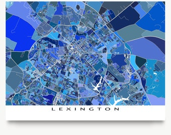 Lexington Kentucky, Lexington Map Print, USA City Art Maps