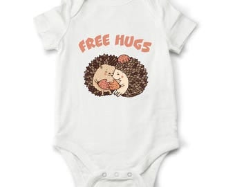 Funny baby bodysuit - Free hugs, Funny baby clothes, Funny baby shower gift