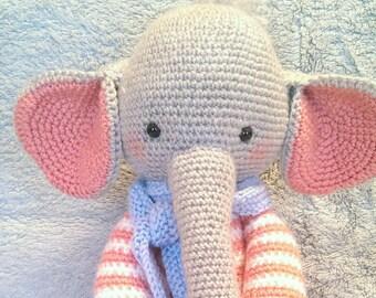 Crochet elephant,amigurumi elephant,sweet baby elephant