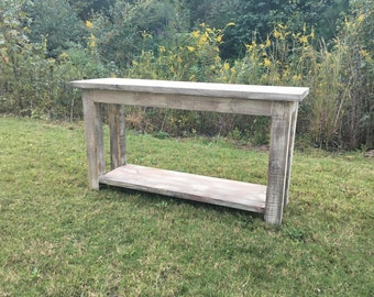 Custom Farmhouse Console Table, Sofa Table, Entry Table