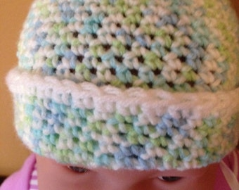 Crocheted baby cap