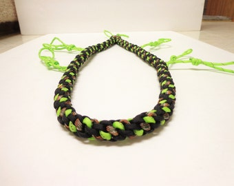 REFLECTIVE!!! Custom Paracord Goose/Duck Call Lanyard Black, Camo, and Neon Green