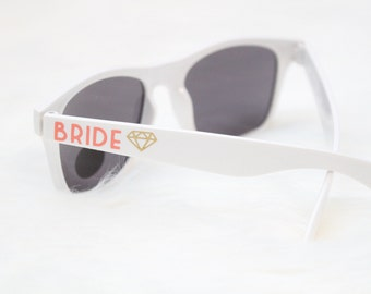 Bride sunglasses - bachelorette party sunglasses - Bride to be - Fiance sunglasses - wedding - engagement - Team bride sunglasses